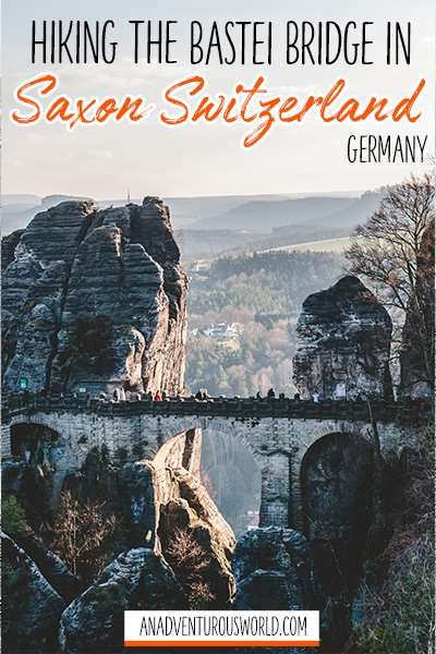 hiking the bastei bridge in germany