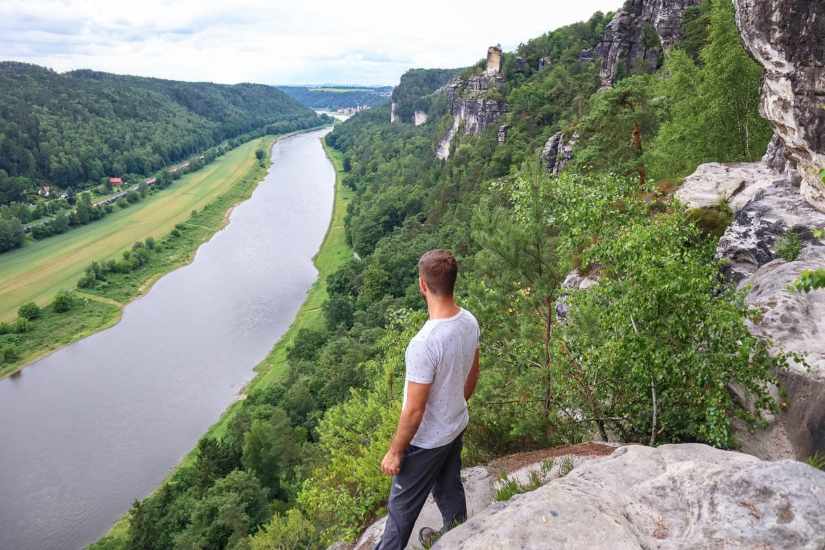 hiking the bastei bridge