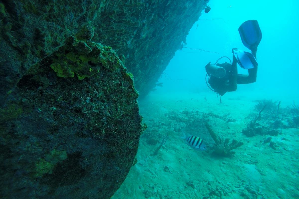 wreck diving barbados