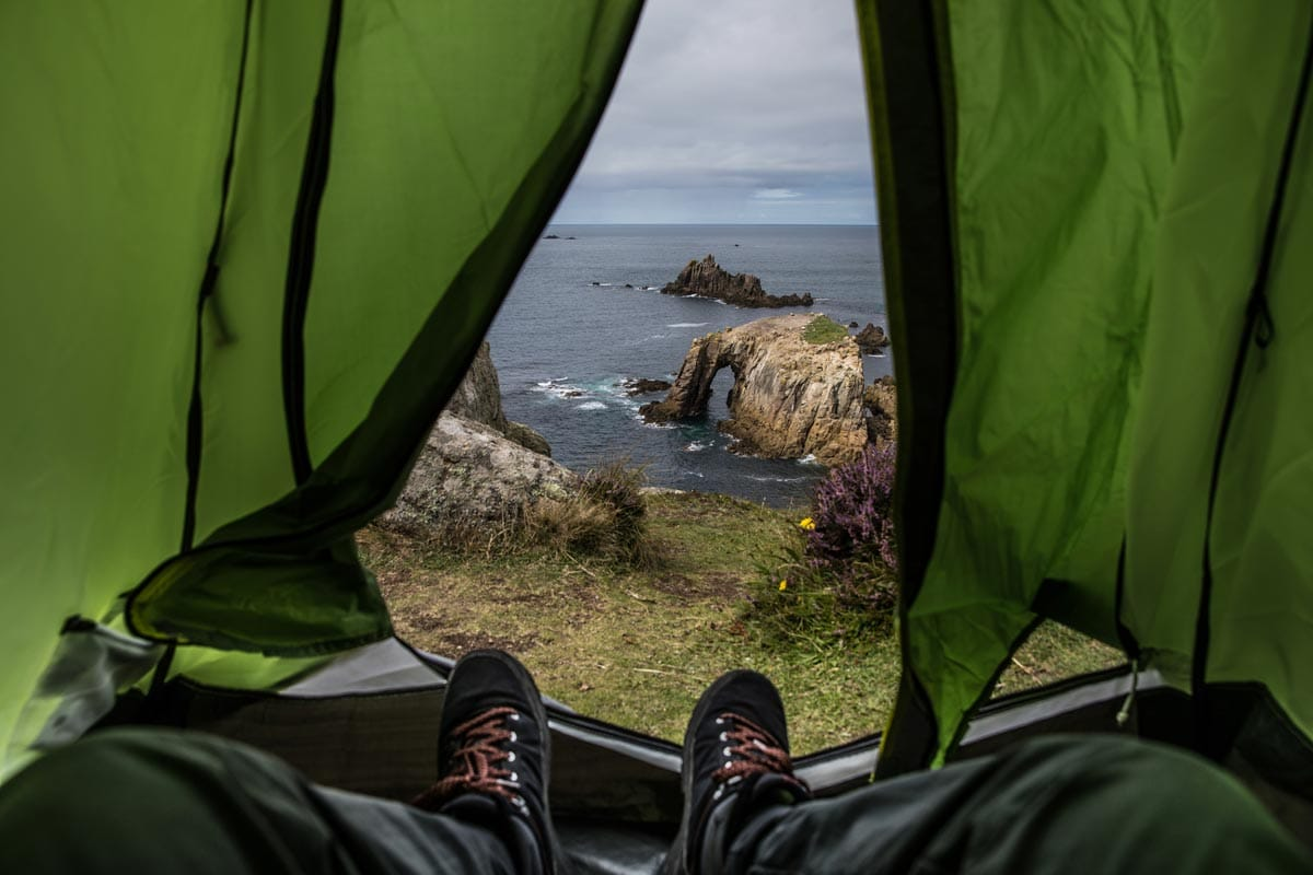 camping near the bedruthan steps