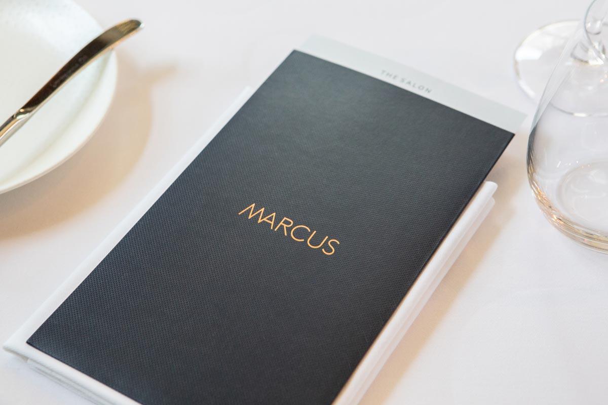 menu at restaurant marcus