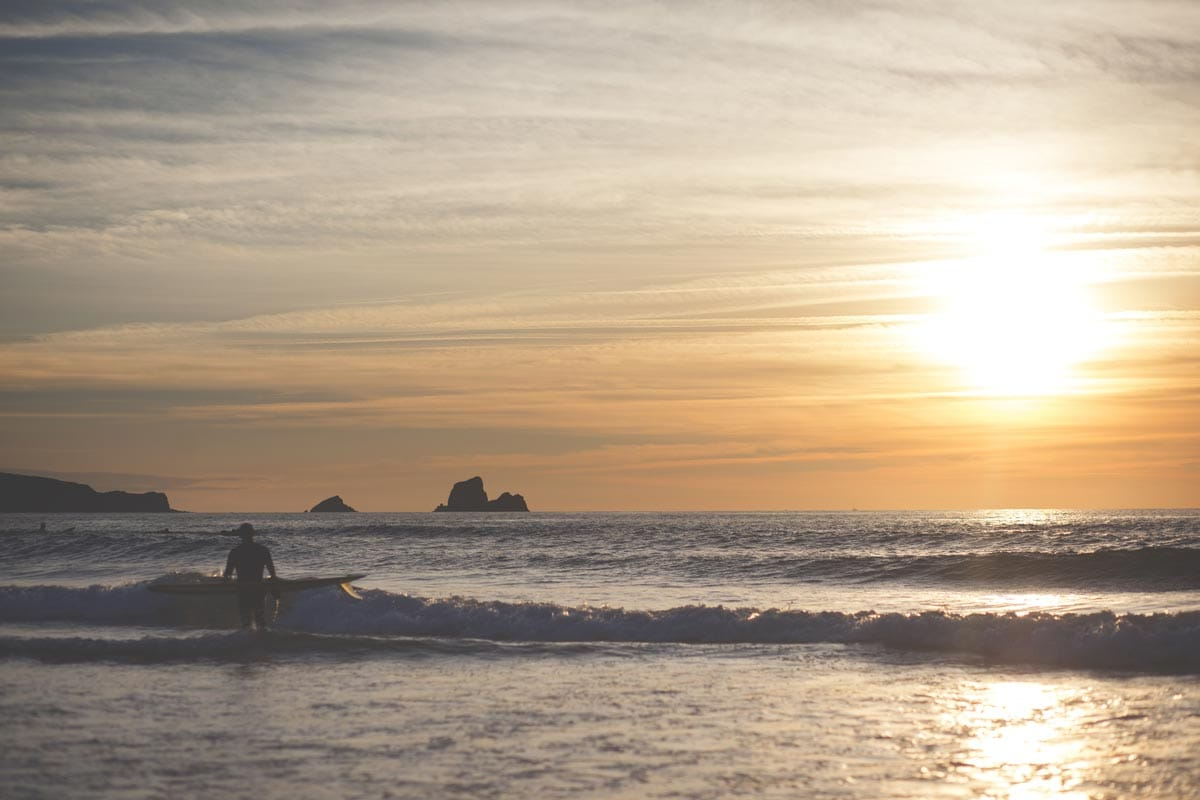 surfing in santander