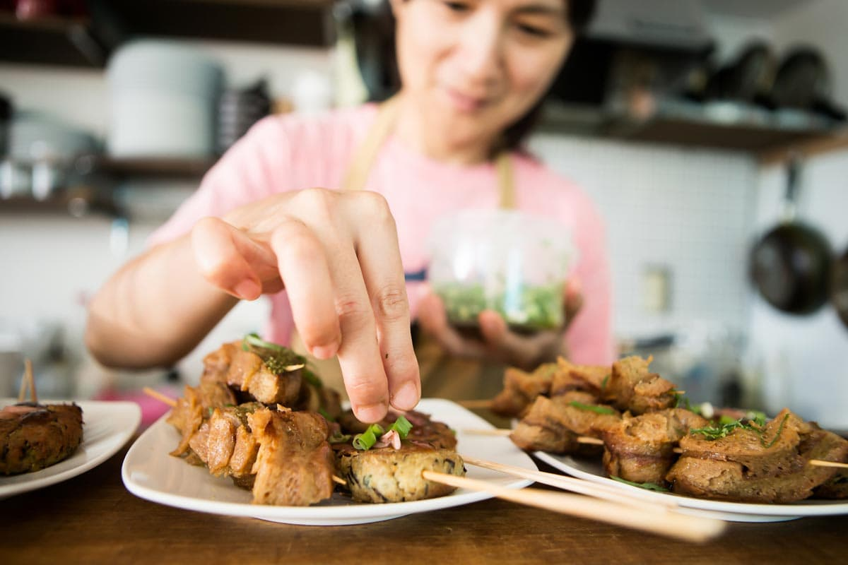 Cooking Japanese food