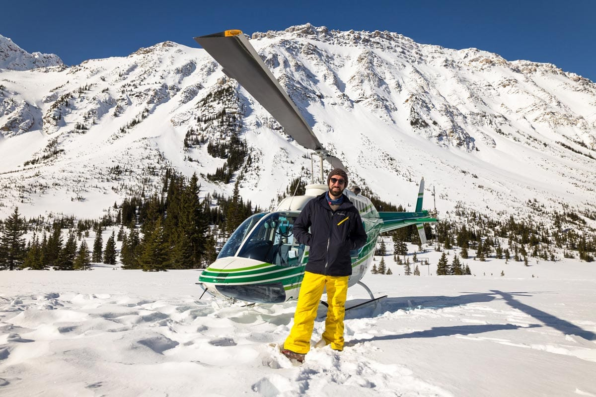 Helicopter tour over the Rocky Mountains
