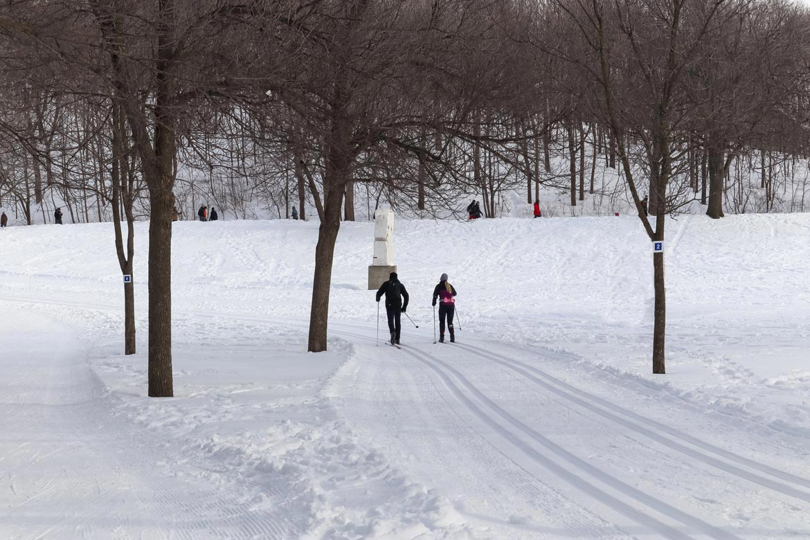 cross country skiing mount royal park