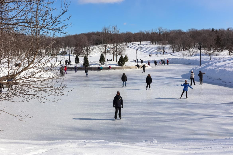 ice skating mount royal park