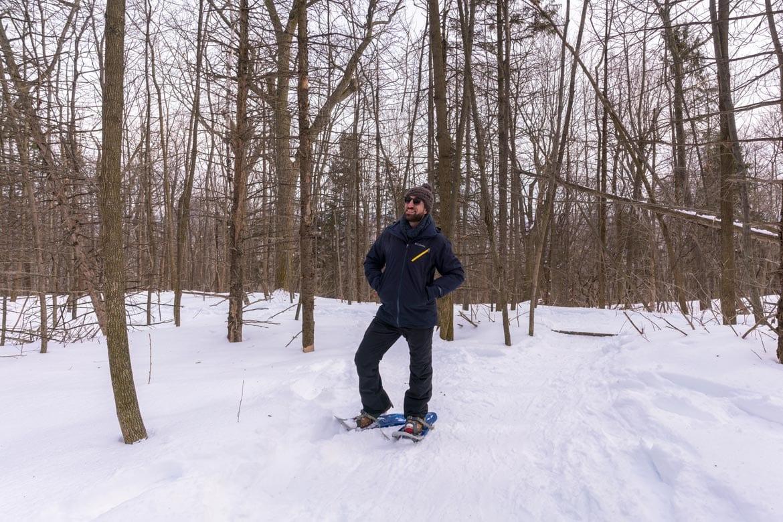 snow shoeing mount royal park