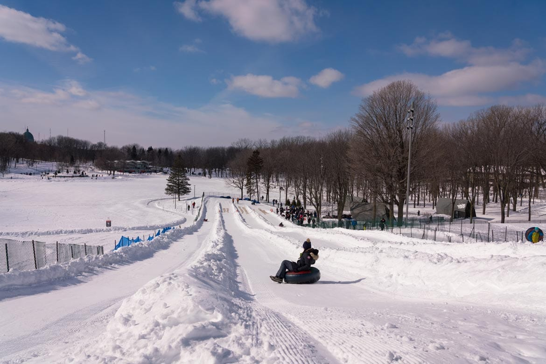 snow tubing mount royal