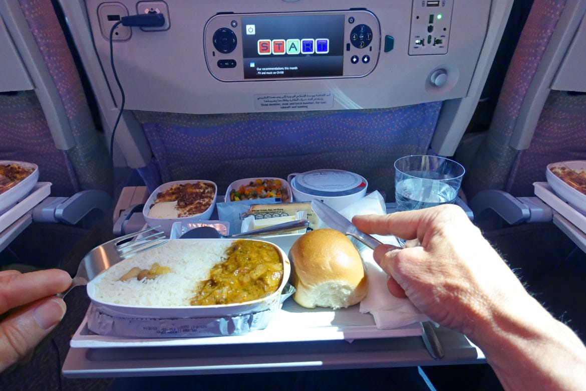 eating plane food