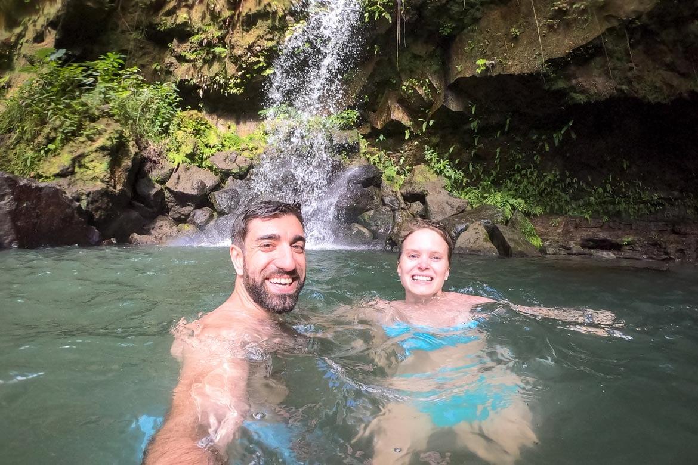 swimming at emerald pool