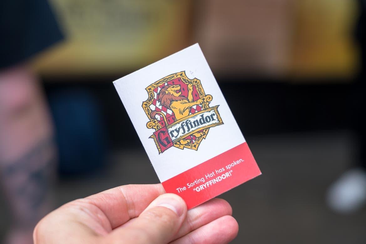 gryffindor card