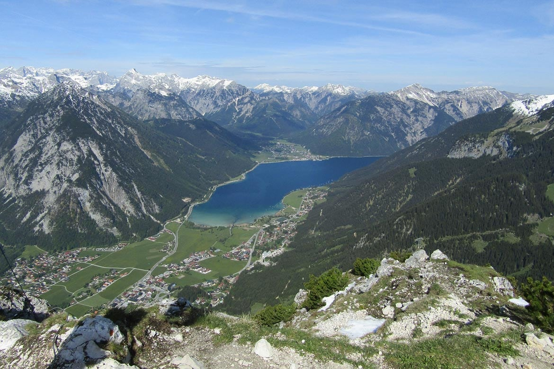 hiking at lake achensee austria