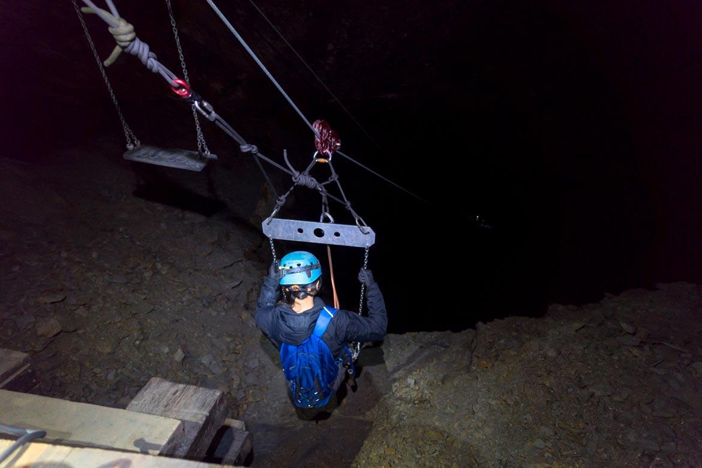 longest underground zipline