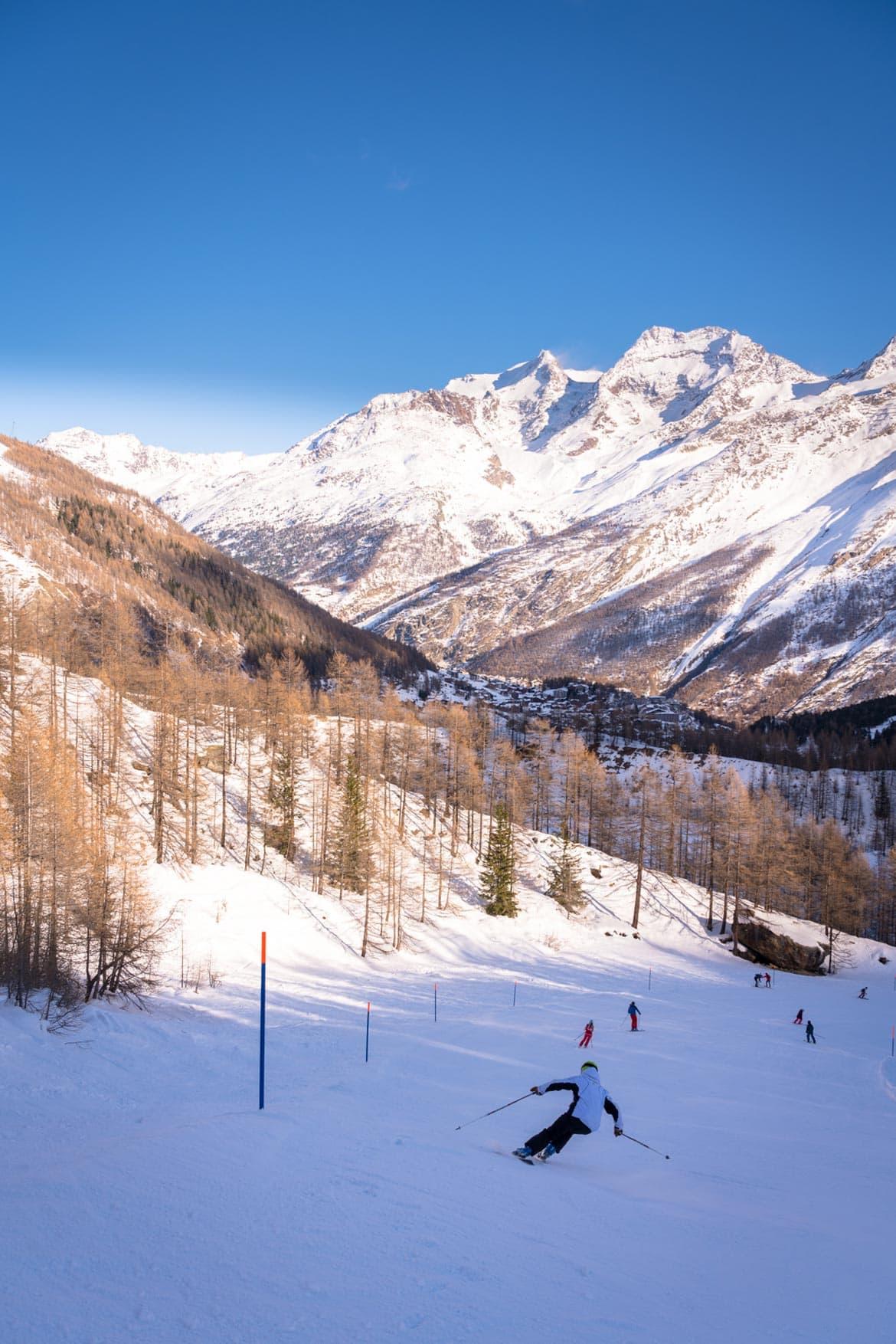 skiing in saas fee