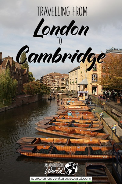 Travelling from London to Cambridge, England