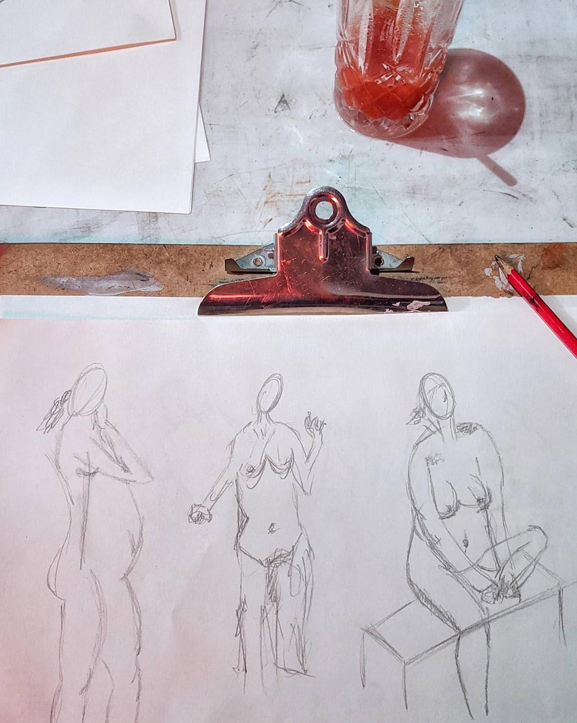 life drawing bums birdcage