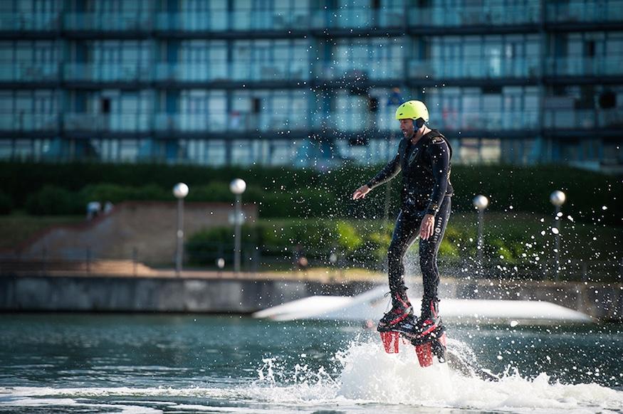 flyboarding at docklands