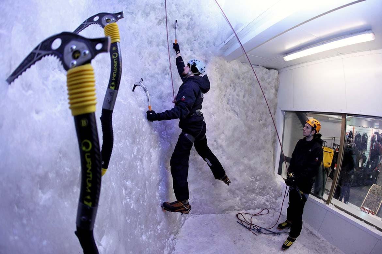 ice climbing in london