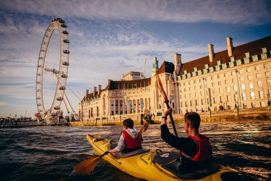 kayaking in london