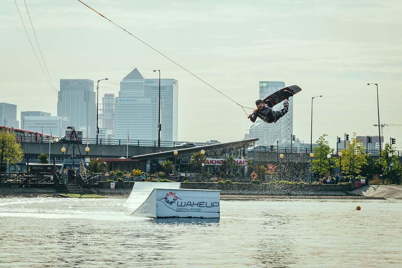 wakeboarding at docklands