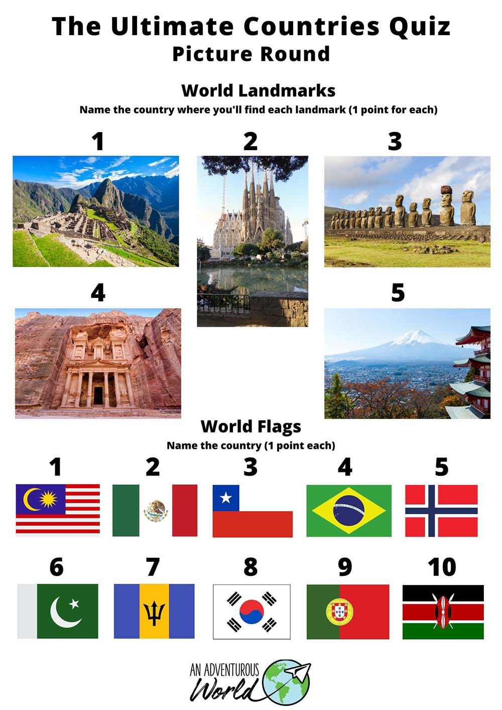 around the world quiz questions and answers
