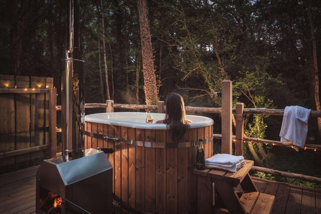 woodland hot tub