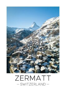 zermatt travel print