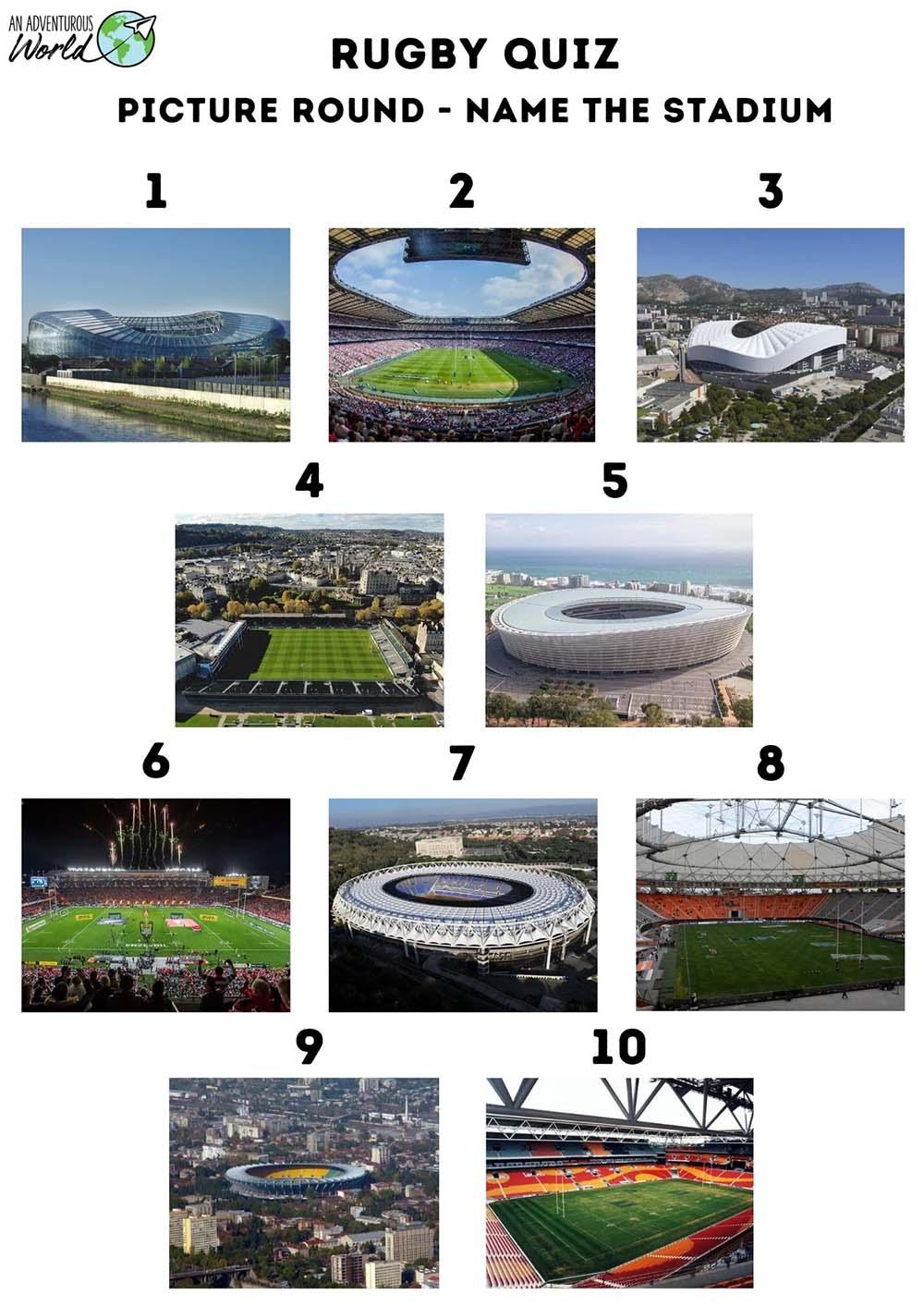 rugby stadiums quiz