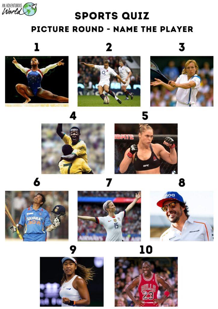 sports picture quiz