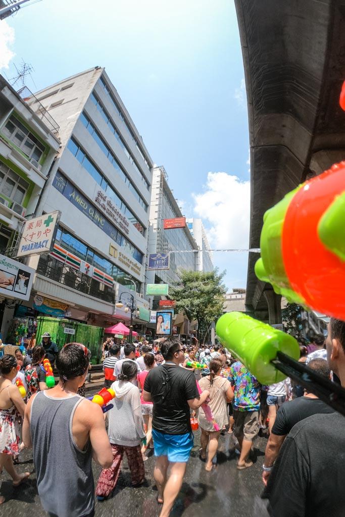 thailand water fight