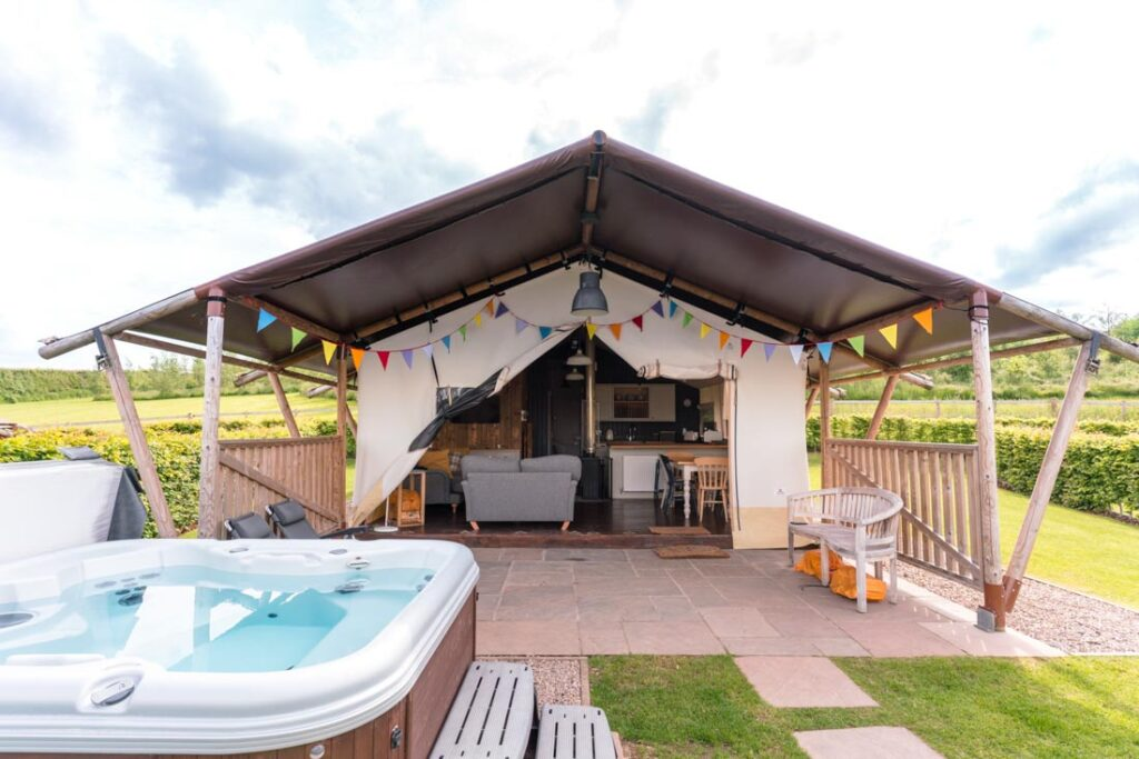 glamping in shropshire