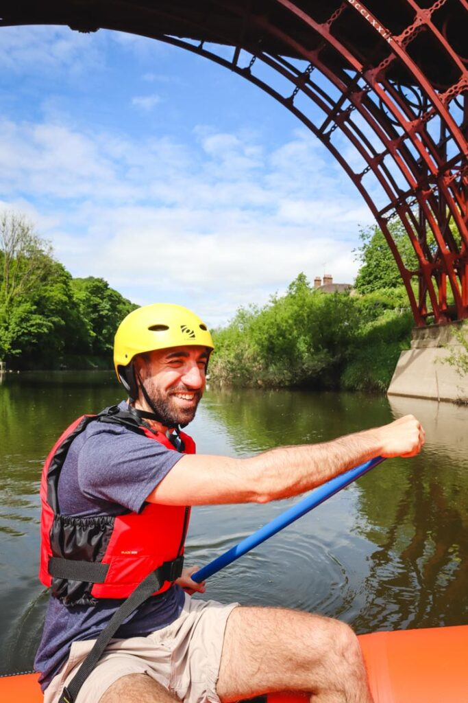 rafting iron bridge